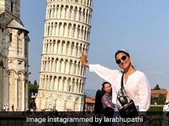 Lara Dutta, Daughter Saira And Mahesh Bhupathi's ROFL Adventures At The Leaning Tower Of Pisa