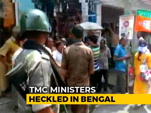 "Video : ""<i>Jai Shri Ram</i>"" Slogans In Bengal Again, Crowd Heckles Trinamool Ministers"