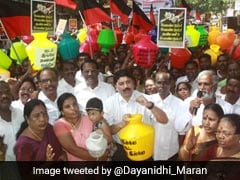 DMK Holds State-Wide Protest Over Water Shortage In Tamil Nadu