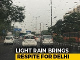 Video: Delhi Wakes Up To Rain, Cloud Cover To Keep Weather Pleasant