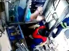 On CCTV, Woman Toll Booth Attendant Punched By Man In Gurgaon