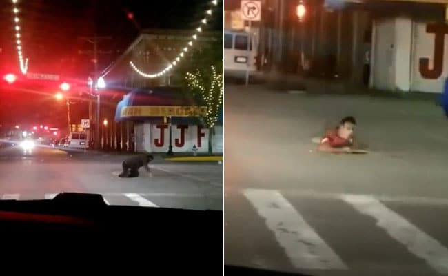 Driver Films People Crawling Out Of Manhole In US Border Town