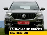 Video : MG Hector Launch And Prices