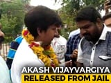Video : BJP Leader Who Hit Official With Cricket Bat Walks Out Of Jail, Garlanded