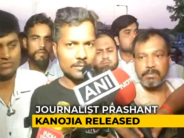 Video : Journalist Prashant Kanojia, Arrested For Defaming Yogi Adityanath, Walks Out Of Jail