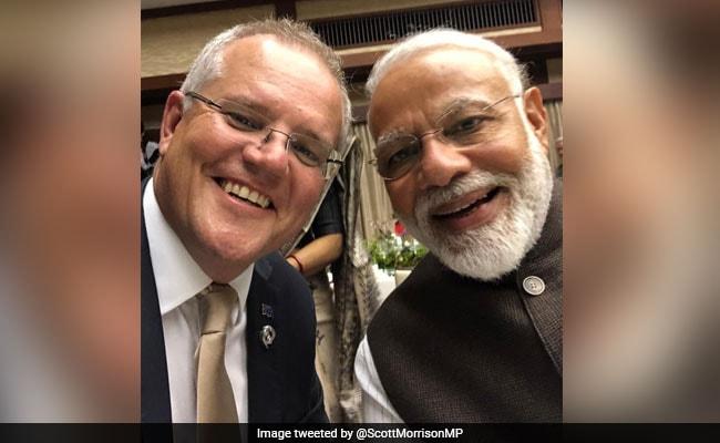 ऑस्ट्रेलिया के प्रधानमंत्री ने पीएम मोदी संग ली सेल्फी, ट्वीट कर लिखा- 'कितना अच्छा है मोदी'