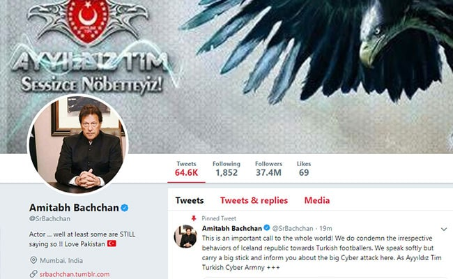 Indian actor Amitabh Bachchans Twitter hacked by Turkish cyber attackers group