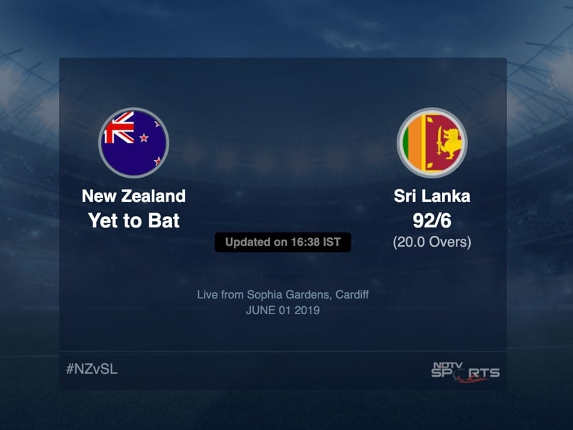 Sri Lanka vs New Zealand Live Score, Over 16 to 20 Latest Cricket Score, Updates