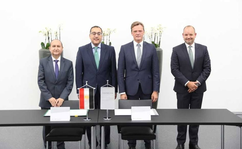 Amr Adel Nassar, Minister of Trade and Industry, Markus Schfer, Daimler AG Sign The MOU