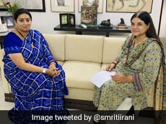 Smriti Irani's Meet With Predecessor Maneka Gandhi Before Ministry Switch