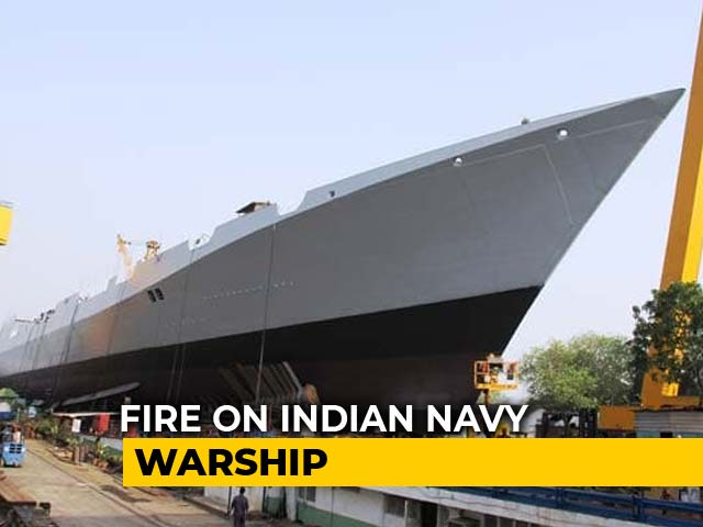 Video : 1 Dead In Fire At Under-Construction Navy Warship In Mumbai