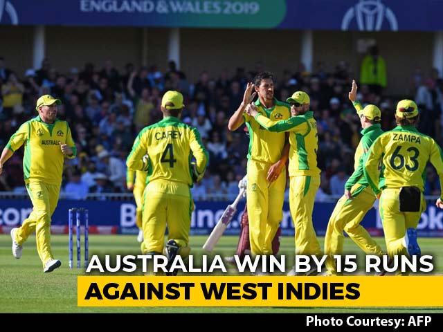 Video : World Cup 2019: Australia Prevail In See-Saw Contest Against West Indies