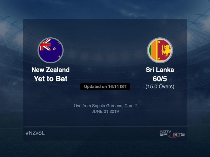 Sri Lanka vs New Zealand Live Score, Over 11 to 15 Latest Cricket Score, Updates