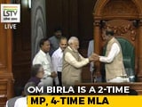 Video : BJP's Om Birla Elected Lok Sabha Speaker, PM Modi Leads Him To Chair