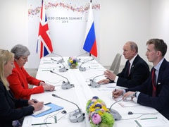 "Russia Must End ""Irresponsible Activity"": Theresa May To Vladimir Putin"
