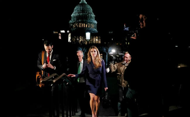Hope Hicks arrives to face questions from House panel
