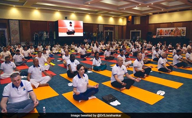 Diplomats Celebrate Yoga Day, S Jaishankar Says Its Growing Reach Evident