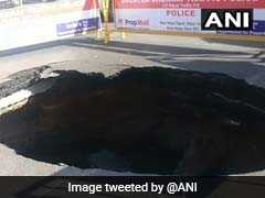 Road Caves In At Busy Chennai Intersection, Traffic Affected