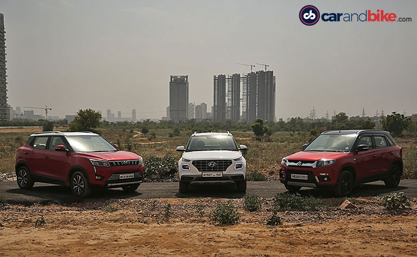 The Hyundai Venue goes up against its biggest rivals, the Maruti Vitara Brezza and the Mahindra XUV300