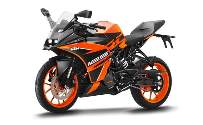 The KTM RC 125 is available in two colours for India - white and orange