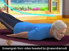 PM Modi Posts New Animated Yoga Video, Explains Benefits Of <i>Shalabhasana</i>