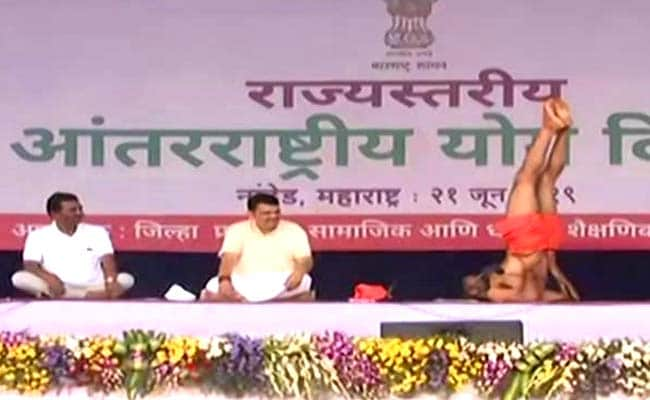International Yoga Day: Baba Ramdev Leads Thousands In Yoga Day Event In  Nanded