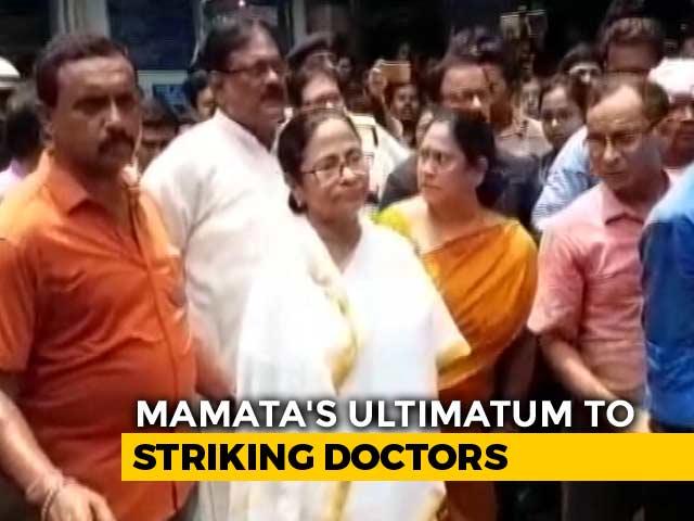 "Video : ""Get To Work Or..."": Mamata Banerjee's Ultimatum To Striking Doctors"