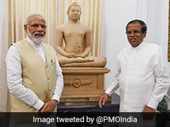 PM Modi Gets Samadhi Buddha Statue As Gift From Lankan President Sirisena