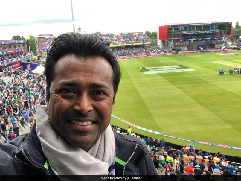 """Come On India"": Leander Paes Cheers For Team India From The Stands At Old Trafford"