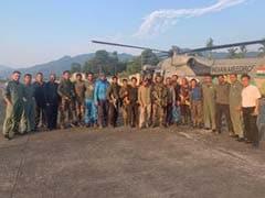 AN-32 हादसा : नौ दिन फंसे रहने के बाद बचाव दल को एयरलिफ्ट किया गया