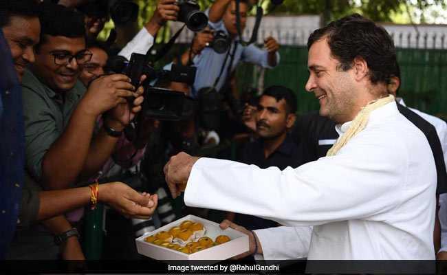 """Rahul Gandhi Shares Birthday Ladoos, Tweets """"Overwhelmed"""" By Love"""