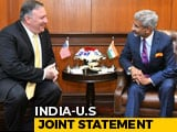 "Video : ""Great Friends Bound To Have Differences"": Pompeo After Talks In India"