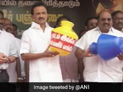 """Water Famine In Tamil Nadu"": MK Stalin Leads Protest Against Government"