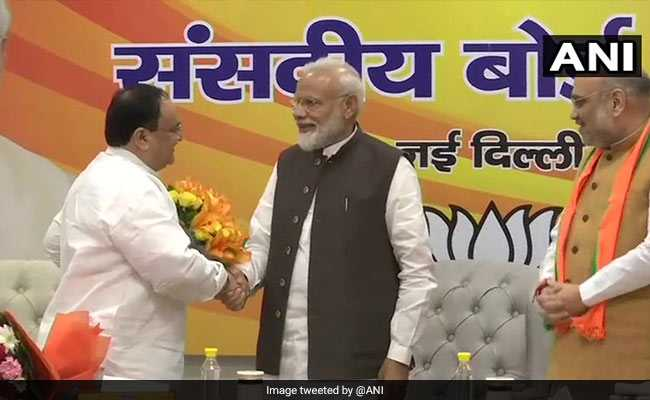 JP Nadda Appointed Working BJP President