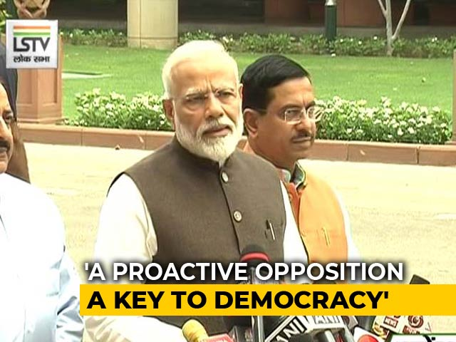 "Video : ""Forget Numbers"": PM Reaches Out To Opposition Before Parliament Session"