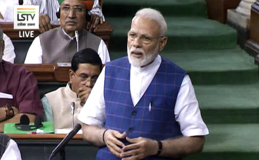 राष्ट्रपति के अभिभाषण पर चर्चा के दौरान बोले पीएम मोदी-  जिसका कोई नहीं उसके लिए सिर्फ सरकार होती है