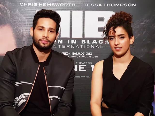 Sanya & Siddhanth On Dubbing For MIB: International Hindi