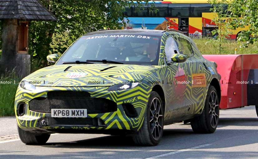 The Aston Martin DBX is expected to be unveiled at Frankfurt Motor Show in September.