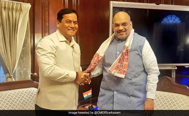 Sarbananda Sonowal Meets Amit Shah, Discusses Situation In Assam