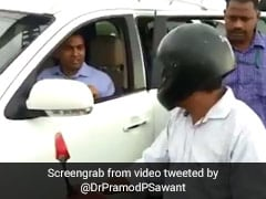 Don't Do This: Pramod Sawant Tells Man Who Threw Flowers In River In Goa