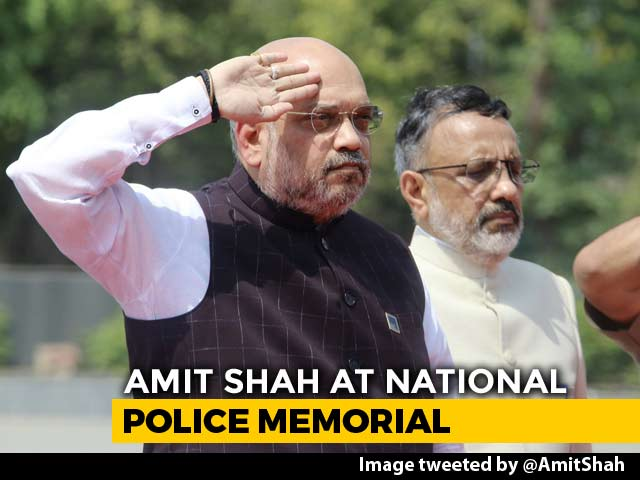 Video : Amit Shah Pays Tribute At National Police Memorial In Delhi