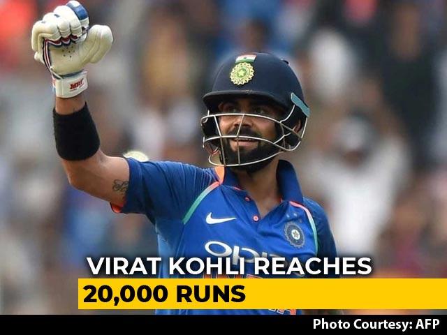 Video : Virat Kohli Fastest To Score 20,000 International Runs