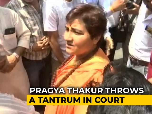 "Video : In Court, Pragya Thakur Shouts At Lawyer, Demands ""Proper Chairs"""