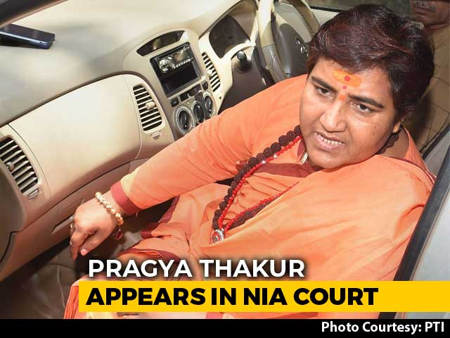Video : Pragya Thakur In Court After Skipping 2 Hearings, Sits On Red Satin Cloth