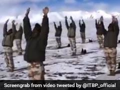 Watch: Indo-Tibetan Border Police Soldiers Perform Yoga At 18,000 Feet In Ladakh