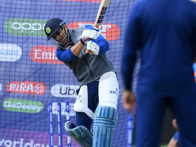 """Watch: MS Dhoni Hits """"Them Out Of The Park"""" In Team Indias Practice Session"""