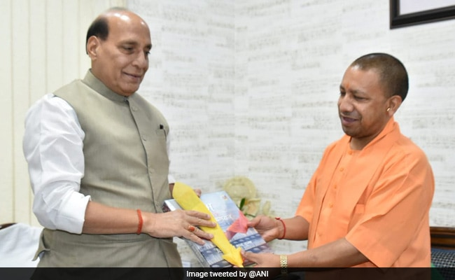 UP Chief Minister Yogi Adityanath Meets Defence Minister Rajnath Singh