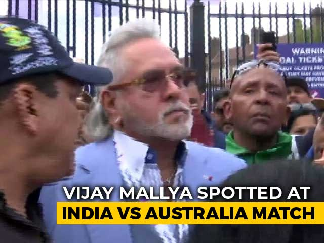 "Video : Vijay Mallya Met With ""<i>Chor Hai</i>"" Cries At India-Australia Cricket Match"