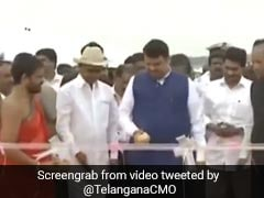 Jagan Reddy, Devendra Fadnavis At KCR's Mega Irrigation Project Launch