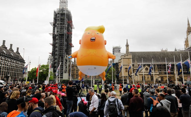 'Trump Baby' Balloon Flies Outside British Parliament, Protests Expected